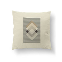 Brown Beige Black, Subdued Colors, Cushion Cover, Abstract Shapes, Throw Pillow, Rhombus Pillow, Simple Art, Decorative Pillow, Home Decor