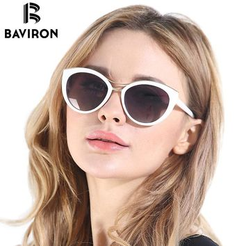 BAVIRON Hot Sell Fashion Cat Eye Sunglasses For Women Vintage Polarized Glasses Blank Package For Dropshipping Model 8527