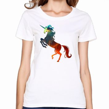 Unicorn T-shirts for Women Harajuku Funny Product Tops Lady Casual Short Sleeve T-Shirt Tops