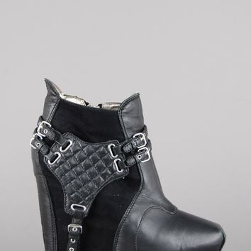 Sam Edelman Zoe Harness Platform Wedge Ankle Booties