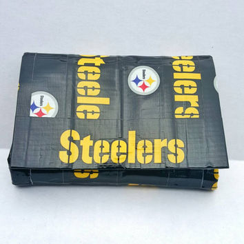 Pittsburgh Steelers Pouch Purse Handbag - Mini Clutch - Duct Tape Bag - Black and Yellow