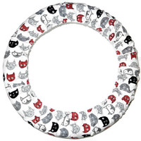 Cat Faces Steering Wheel Cover Fun Animal Car Wheel Cover Made in USA Car Accessory Decor