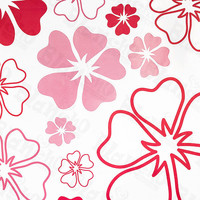 Pink World - X-Large Wall Decals Stickers Appliques Home Decor