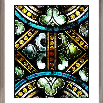 Stained Glass Window, Architectural Photograph, Fine Art Wall Decor, Architectural Wall Art, Latvian Travel Photo, Stained Glass Wall Decor