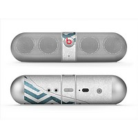 The Peeled Vintage Blue & Gray Chevron Pattern Skin for the Beats by Dre Pill Bluetooth Speaker