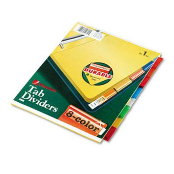Wilson Jones Insertable Binder Tab Dividers 8 Tab Multicolor (W54311A) - 6 pa...