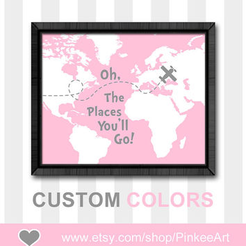 wall art for toddlers oh the places you will go print dr seuss nursery art baby girl nursery ideas girls room decor baby gift child wall art