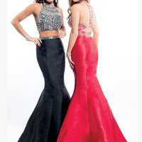 Two Piece Rachel Allan Prom Dress 7067