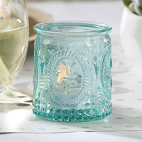 Aqua Tea Light Candle Holder (Set of 4)