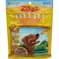 Zuke's Mini Naturals Dog Treats Peanut Butter - 6 oz