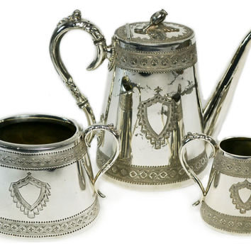 Silver Plated Tea Set by Henry Harrison Antique English circa 1880  sc 1 st  Wanelo & Best Antique Silver Tea Sets Products on Wanelo