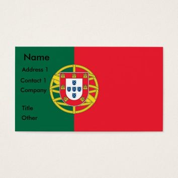 Business Card with Flag of Portugal