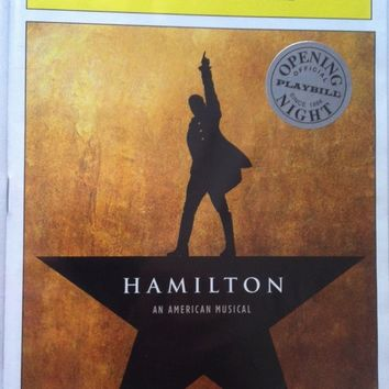 Hamilton Opening Night Playbill