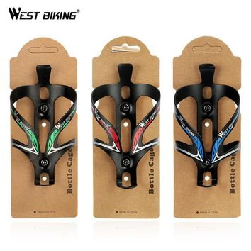 WEST BIKING Bike Ultra Light Aluminum Alloy MTB Road Bicycle Bottle Holder Bike Mountain Cycling Fixed Gear Water Bottle Cage