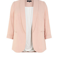 Inspire Shell Pink Crepe Blazer
