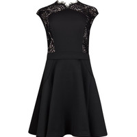 Lace panel dress - Black | Dresses | Ted Baker