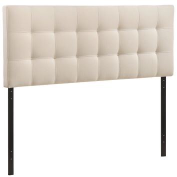Upholstered Tufted, Padded Textured Fabric, and Vinyl Headboards, Lily