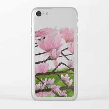 A Magnolia Tree Clear iPhone Case by Lindsay