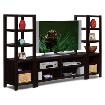 Townsend Entertainment Wall Units 3 Pc. Entertainment Wall Unit - Value City Furniture