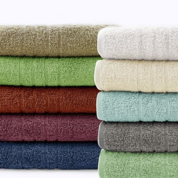 6 Piece Cotton Towel Set Zero Twist Quick Dry