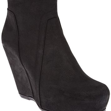 Rick Owens Platform Wedge Ankle Boot
