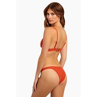 Chandrani Havana Bikini Bottom - Terracotta Eyelet