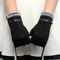 Fashion Womens Touch Screen Wrist Gloves