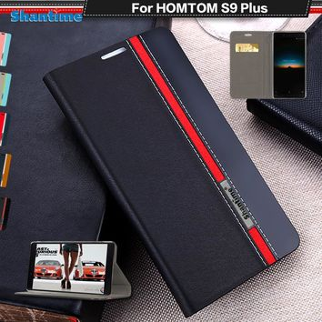 Book Case For HOMTOM S9 PLUS Luxury PU Leather Wallet Flip Cover For S9 PLUS Silicon Soft Back Cover