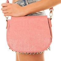 *Accessories Boutique The Studded Messenger Bag in Pink : Karmaloop.com - Global Concrete Culture