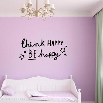 English Letter Vinyl Stickers Home Decor Motto Proverbs DIY Wall Sticker For Baby Room Living Room Bedroom Minimalism Nordic INS