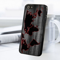 World Map iPhone 5 Or 5S Case