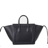 Authentic Celine Black Smooth Calfskin Phantom Large Women Brand New Bag