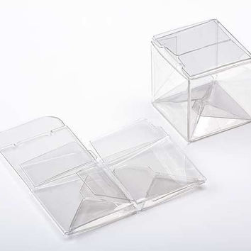25 Premium Crystal Clear Mini CUBE Boxes 2 x 2 x 2 Inches Square for Gifts, Retail Packaging, Favors