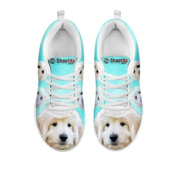 Smiling Goldendoodle Print Sneakers For Women- Free Shipping-For 24 Hours Only