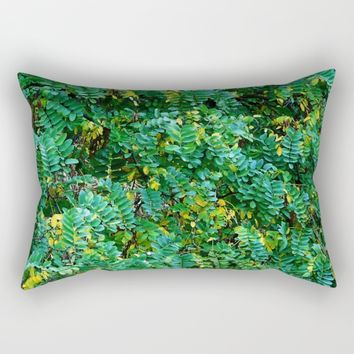 Acacia leaves Rectangular Pillow by poor mediocre thought it´s Ephemeral