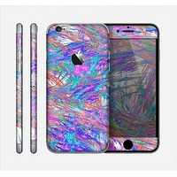 The Abstract Colorful Oil Paint Splatter Strokes Skin for the Apple iPhone 6
