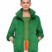 Akris | suede hooded jacket