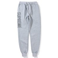 Supreme  Women Men Fashion Casual  Pants Trousers