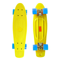 "22"" Complete Plastic Penny Style Street Classic Skateboard - Yellow"