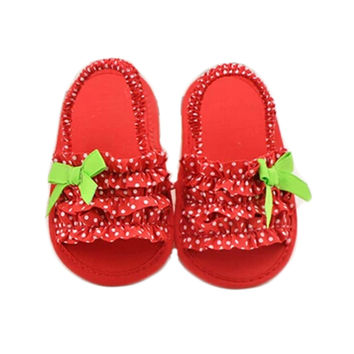 Baby Girls Loafer Flats Shoes Hawaii Style Sandals Sandals Prewalker (red)