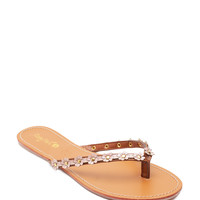 Intro 01 Daisy Blooms Thong Sandals