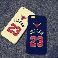 Chicago Bulls Jordan Case Cover for iPhone 5 5s 6 6s 4.7 6Plus 5.5 Sport Basketball Hard PC Protective Back Mobile Phone Case