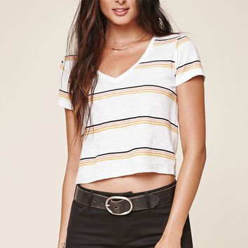 Me To We Linen Varsity Short Sleeve T-Shirt at PacSun.com