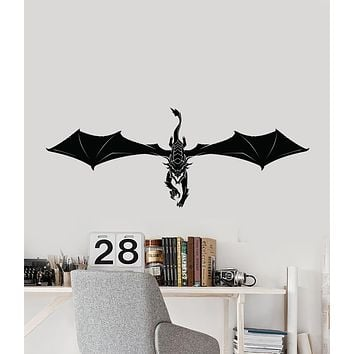 Vinyl Wall Decal Fantasy Beast Fairy Tale Dragon Video Game Children's Room Stickers (4204ig)