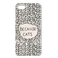 Because Cats pattern Hard Skin Case Cover Back Protector For iPhone 6plus 6 5 5s 5c 4 4s