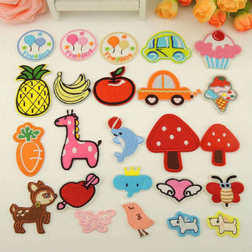 Cute Patches Iron on Sew on for Jackets- Patches for Jeans Bag DIY