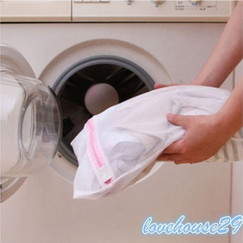3 Sizes Laundry Underwear Net Mesh Washing Machine Bag Socks Lingerie Bra Bag [8045579719]