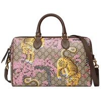 Gucci Women's GG Supreme Bengal Boston Top Handle Handbag 409527