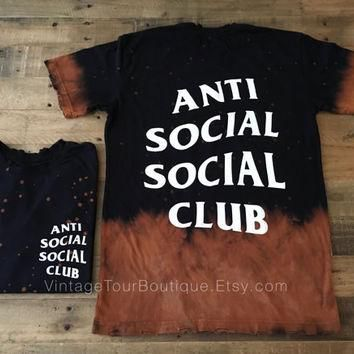 Anti Social Social Club Bleached Tee Shirt ASSC Kanye West Yeezy T-shirt
