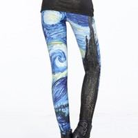 Starry Night (Van Gogh) Cosmic Tights from Tights for All